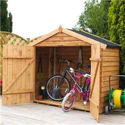 Bike Store 7ft x 3ft (2.01m x 0.82m) Overlap Super Saver With Double Doors (10mm OSB Floor)
