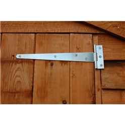 6ft x 4ft (1.83m x 1.29m) Buckingham Overlap Apex Shed With Single Door + 1 Window (10mm Solid OSB Floor)