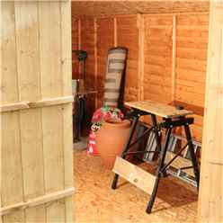 10ft x 8ft (3.17m x 2.53m) Cambridge Overlap Apex Shed With Double Doors + 4 Windows (10mm Solid OSB Floor)