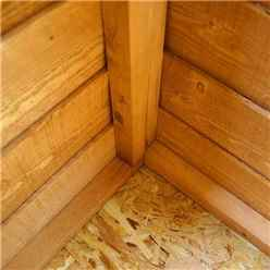 10ft x 6ft (3.12m x 1.83m) Cambridge Overlap Pent Shed With Single Door + 1 Window (10mm Solid OSB Floor)