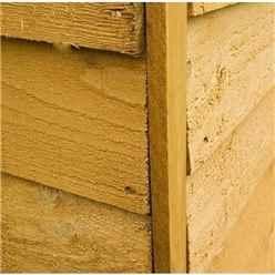 10ft x 6ft Cambridge Overlap Pent Shed With Single Door + 1 Window (10mm Solid OSB Floor)