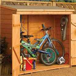 6ft x 3ft (1825mm x 825mm) Deluxe Rowlinson Tongue & Groove Wallstore Bike / Shed