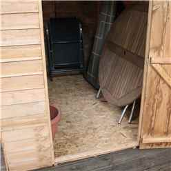 7ft x 5ft (2.18m x 1.64m) Buckingham Overlap Apex Shed With Single Door + 2 Windows (10mm Solid OSB Floor & Roof)