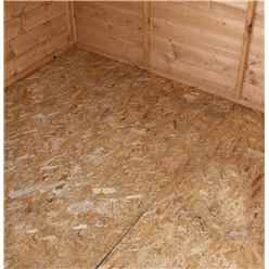 *DISCO 2/1/19* 6ft x 8ft (1.91m x 2.39m) Tongue And Groove Reverse Apex Shed With Single Door + 1 Window (10mm Solid OSB Floor)