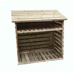 6FT x 2FT PRESSURE TREATED TONGUE & GROOVE LOG STORE