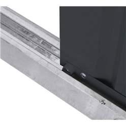 5ft x 3ft Premier EasyFix - Pent - Metal Shed - Anthracite Grey (1.48m x 0.93m)