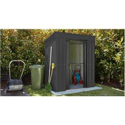 6ft x 3ft Premier EasyFix - Pent - Metal Shed - Anthracite Grey (1.80m x 0.93m)