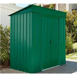 8ft x 4ft Premier EasyFix Heritage Green Pent Shed (2.46m x 1.23m)