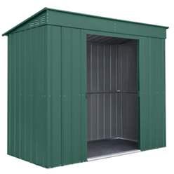 8ft x 4ft Premier EasyFix - Pent - Metal Shed - Heritage Green (2.42m x 1.24m)