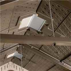 15 x 8 Life Plus Double Entrance Plastic Apex Shed With Plastic Floor + 2 Windows (4.57m x 2.43m)