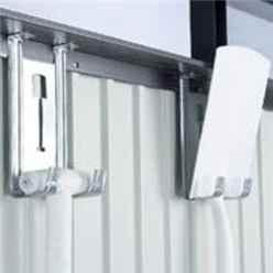 8ft x 8ft Heavy Duty Metal Dark Grey Shed With Single Door (2.75m x 2.75m)