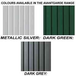8ft x 10ft Ex Large Dark Grey Heavy Duty Metal Shed (2.6m x 3m)