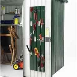 8ft x 5ft Heavy Duty Dark Green Metallic Metal Shed (2.44m x 1.56m)