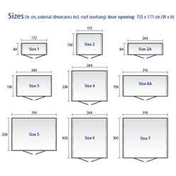 8ft x 10ft Heavy Duty Metallic Silver Metal Shed (2.44m x 3m)