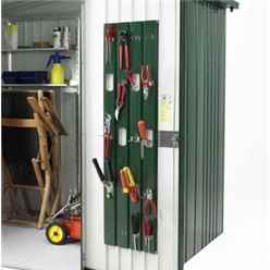 10ft x 10ft Heavy Duty Quartz Grey Metal Shed (3.16m x 3m)