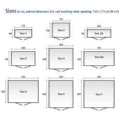 8ft x 3ft Heavy Duty Quartz Grey Metal Shed (2.44m x 0.84m)