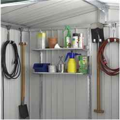 10ft x 5ft Heavy Duty Quartz Grey Metal Shed (3.16m x 1.56m)