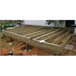 Pressure Treated Wooden Base Frame + Damp Proof Roll - Less Than 7m