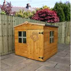 4ft x 4ft Tongue & Groove Playhouse + 2 Windows