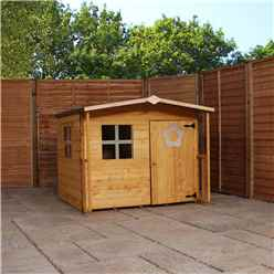 INSTALLED 5ft x 5ft Tongue & Groove Playhouse With Overhang - INCLUDES INSTALLATION