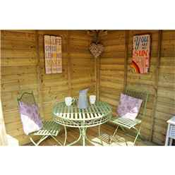 7ft x 7ft Marigold Corner Summerhouse