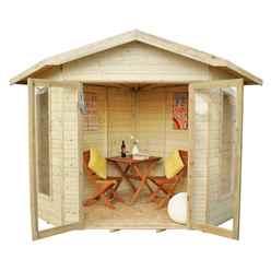 8ft x 8ft Orchid Corner Summerhouse - Assembled