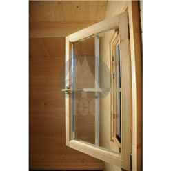 4m x 4m Premier Rio Log Cabin - Double Glazing - 34mm Wall Thickness
