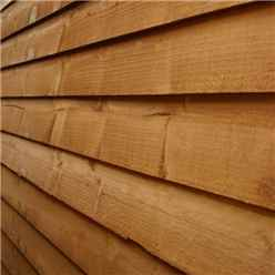 **FLASH REDUCTION** 8ft x 6ft (2.40m x 1.83m) Super Saver Overlap Apex Shed With Double Doors + 2 Windows (Solid 10mm OSB Floor)