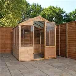 4ft x 6ft (1.22m x 1.89m) Wooden Shiplap Plus Greenhouse