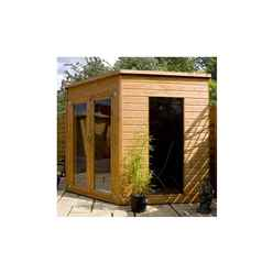 8ft x 8ft (2.42m x 2.42m) Solis Corner Summerhouse (10mm Solid OSB Floor & Roof)