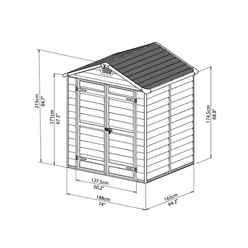 12ft x 6ft Plastic Apex Shed (3.65m x 1.88m) *FREE 24/48 HOUR DELIVERY*