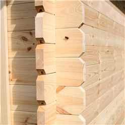 3m x 2.4m BLOSSOM Log Cabin (Single Glazing) + Free Floor & Felt & Safety Glass (34mm)