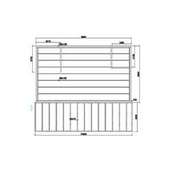 6m x 10m Premier Chalet Log Cabin (with Mezzanine) - 70mm Wall Thickness - Double Glazing