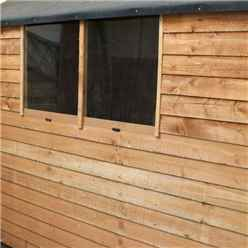 7ft x 5ft (2.13m x 1.60m) Super Saver Overlap Apex Shed with Single Door + 2 Windows (10mm Solid OSB Floor & Roof)