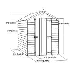 7ft x 5ft Super Saver Overlap Apex Shed with Single Door + 2 Windows (10mm Solid OSB Floor & Roof)