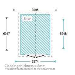 20ft x 10ft Super Saver Overlap Apex Workshop With Double Doors +  8 Windows (10mm Solid OSB Floor)