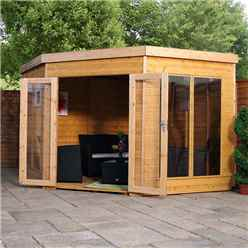 9ft x 9ft (2.80m x 2.80m) Solis Premier Corner Summerhouse (Tongue and Groove Roof and Floor)