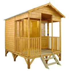 *DISCO 2/1/19* 8ft x 10ft (2.4m x 3.2m) Beach Hut Summerhouse (12mm T&G Floor & Roof)