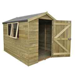 8ft x 6ft Pressure Treated Tongue and Groove Apex Wooden Shed