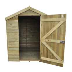 8ft x 6ft Pressure Treated Tongue and Groove Apex Wooden Shed - Installed