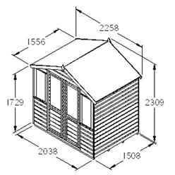 7ft x 5ft WaterLily Summerhouse - Assembled
