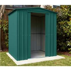 6ft x 4ft Heritage Green Apex Metal Shed (1.71m x 1.31m)