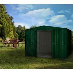8ft x 5ft Heritage Green Apex Metal Shed (2.34m x 1.44m)