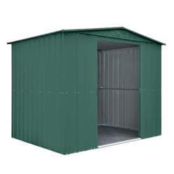 8ft x 6ft Heritage Green Apex Metal Shed (2.34m x 1.75m)