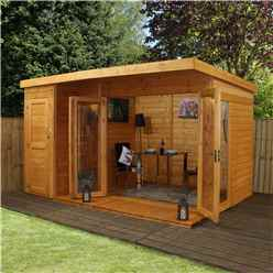 12ft x 8ft (3.56m x 2.50m) Contempory Gardenroom Large Combi (12mm T&G Floor & Roof)