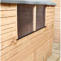 INSTALLED 8ft x 6ft (2.40m x 1.83m) Super Saver Overlap Apex Shed With Double Doors + 2 Windows (Solid 10mm OSB Floor) - INCLUDES INSTALLATION