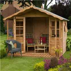 INSTALLED 12ft x 8ft (3.76m x 2.44m) Wessex Summerhouse (12mm T&G Floor & Roof) - INCLUDES INSTALLATION