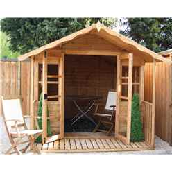 INSTALLED 10ft x 8ft (3.2m x 2.4m) Wessex Summerhouse (12mm T&G Floor & Roof) - INCLUDES INSTALLATION2