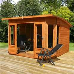 INSTALLED 10ft x 10ft (3.15m x 2.97m) Helios Summerhouse (12mm Tongue and Groove Floor and Roof) - INCLUDES INSTALLATION