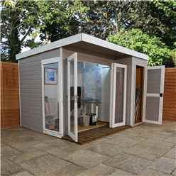 INSTALLED 10ft x 8ft (3.12m x 2.44m) Contempory Gardenroom Large Combi (12mm T&G Floor & Roof) - INCLUDES INSTALLATION